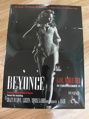 BEYONCE - I AM...WORLD TOUR [ORIGINAL POSTER] *NEW*
