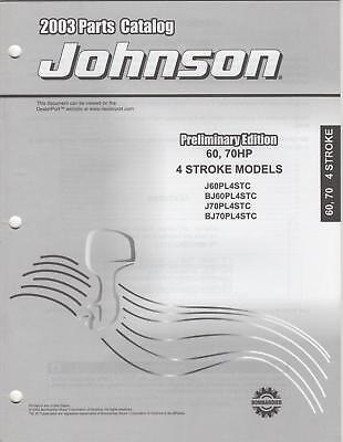 2003 Johnson Outboard 60, 70hp 4-stroke Parts Catalog