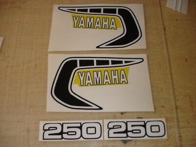 1981 Yamaha Yz 250 Tank And Side Panel Decals Ahrma