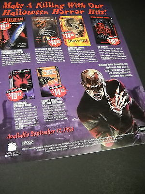 HALLOWEEN HORROR HITS 1996 Promo Poster Ad MINT COND.](Halloween Promo Poster)