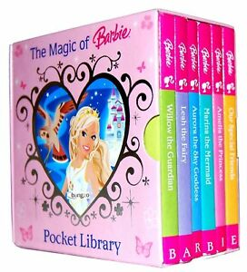Barbie-Pocket-Library-6-Board-Books-Collection-Set