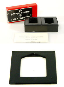 BAUSCH-amp-LOMB-2-X-2-SLIDE-ADAPTERS-BOX-OF-20
