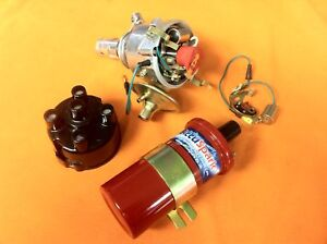 Triumph Spitfire 45D Accuspark Distributor & Sports Coil, Red Rotor