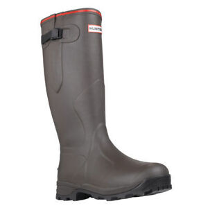 Hunter Wellington Boots Brown Balmoral Neoprene Size 10