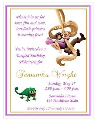 Rapunzel Tangled Invitations ~ Style #2 - Tangled Invitations