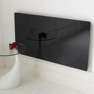 MODERN RADIATOR COVER BLACK TOUGHENED MIRROR GLASS LARGE DESIGN FURNITURECABINET