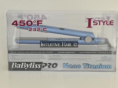 "Babyliss Pro Nano Titanium/Sol-Gel Flat Iron 1"" BNT2095"