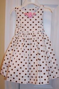 NEW-Polly-amp-Friends-Spring-Easter-Polka-Dot-Dress-24-M