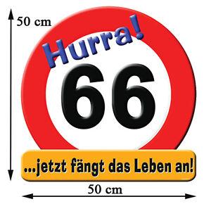 Riesenschild Riesen Schild Zum 66 Geburtstag 66sten Jetzt Fängt