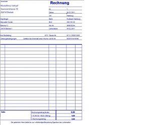 pc rechnung rechnungsprogramm mit protokoll excel ebay. Black Bedroom Furniture Sets. Home Design Ideas