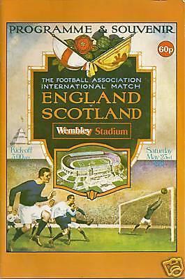 ENGLAND v SCOTLAND 1981