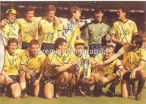 OXFORD UNITED 1986 MILK CUP FINAL SIGNED x 12 ALDRIDGE