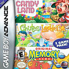 Candy Land / Chutes and Ladders / Original Memory Game  (Nintendo Game Boy Advance, 2005) (2005)
