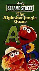 Sesame Street The Alphabet Jungle Game Vhs 1998 Ebay