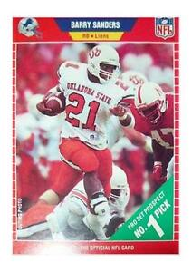 1989 Pro Set Barry Sanders Detroit Lions 494 Football Card