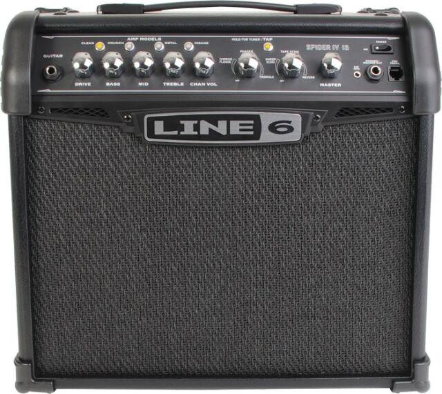 line 6 spider iv 15 15 watt guitar amp ebay