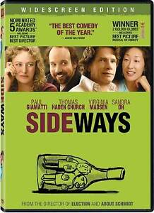 Sideways DVD, 2009, Includes Spa Cash Promotion Widescreen  - $2.85