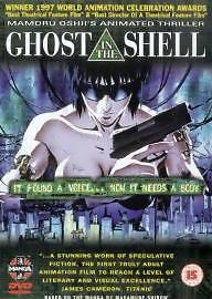 Ghost In The Shell (DVD, Manga Anime, 2000) Watched Once Free Postage