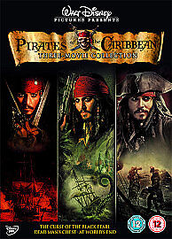 FREE-POSTAGE-Walt-Disney-Box-Set-Pirates-Of-The-Caribbean-Trilogy-DVD