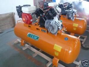 AIR COMPRESSOR 200 LTR  PETROL ENGINE 5.5 HP