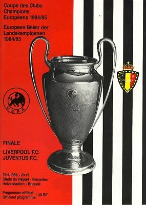 EUROPEAN CUP FINAL 1985 Liverpool v Juventus @ Heysel Stadium