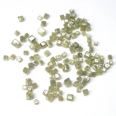 3+ Carats POLISHED CUBIC Rough Cut Diamonds Beads
