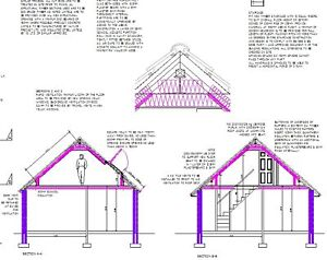 LOFT CONVERSION AUTOCAD CAD PLANS TO 2014 BUILDING REGS
