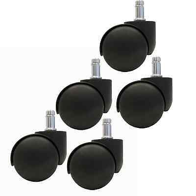 Officemax Chair Casters Wheels Rollers Tires 5pc Set Ch-55