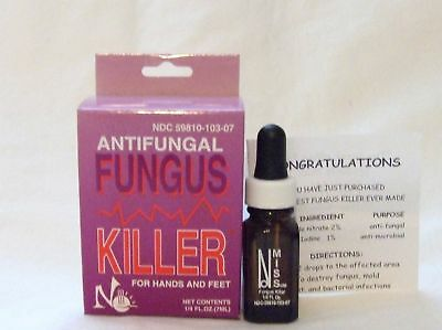 Miss Nail Hands Feet Fungus Killer Anti Fungal .25oz/7.3ml 6ct/pk
