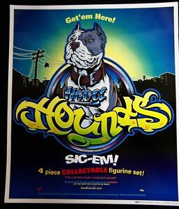 NEW HOOD HOUNDS Poster Sly the Blue-Nose Pitbull Pit Bull Terrier Dog