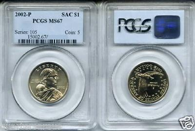 Lowest Prices  2002 P Ms67 Sacagawea Gold Dollar Pcgs