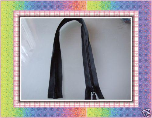Black Nylon Zip 25 cm 10 inch Open Ended buy2 get1 free