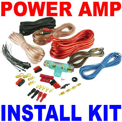 18' 8 Gauge RCA Wire Amp Wiring Fuse Amps Install Kit  on Rummage