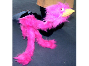 new-WALKING-FUZZY-BIRD-STRING-PUPPETS-plush-toy-puppet-novelty-walk-marronett