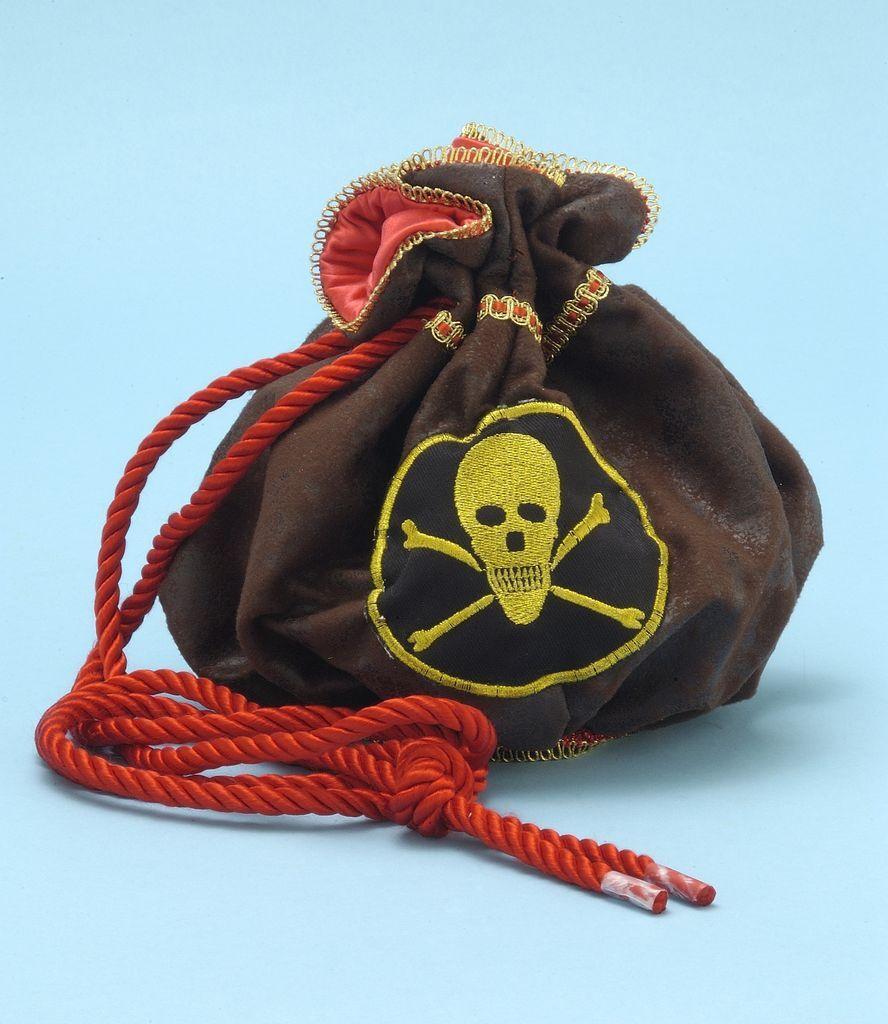 Pirate Maiden Skull & Crossbones Bag Pocketbook Handbag Costume Accessory