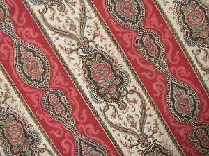 Antique-French-Block-print-fabric-red-Indienne-19th-material-detailed-design