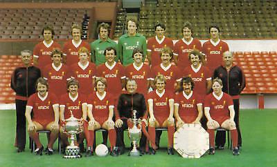 LIVERPOOL FOOTBALL TEAM PHOTO 1980-81 SEASON