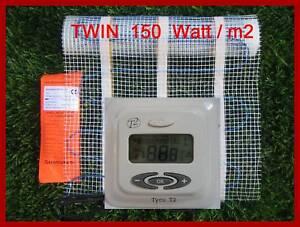 8,0 m2 Riscaldamento a Pavimento Riscaldonneto Delle Mattonelle Twin