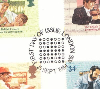 British-Council-GB-First-Day-Lithograph-Stamps-1984
