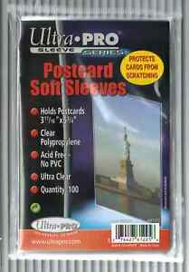 2000-Ultra-Pro-Postcard-Sleeves-Archival-Safe-20-Packs-Crystal-Clear