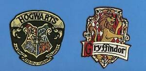 2-Lot-Harry-Potter-Hogwarts-Gryffindor-Scarf-Patches