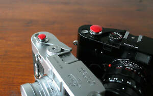 Red 10mm Convex Soft Release Button for Leica M3 MP M8 M9 Fuji X100 Nikon Canon