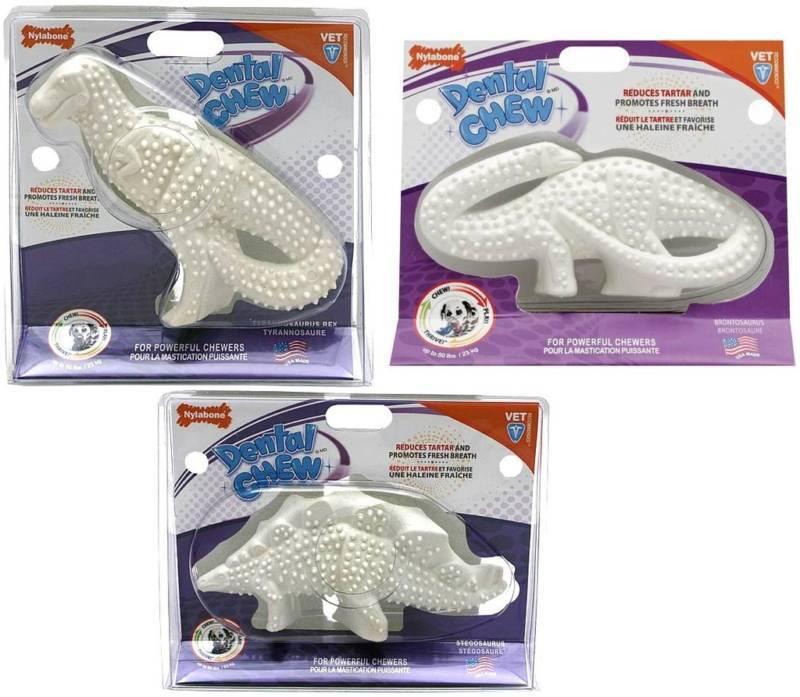 Nylabone Dental Chew Dinosaur Powerful Chewers Durable Dog Toy Giant Size