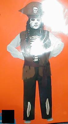 Skeleton Pirate Costume Child Boys Husky (Husky Pirate Costume)