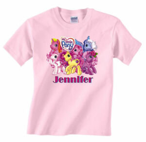 PERSONALIZED CUSTOM MY LITTLE PONY PINK T SHIRT GIFT | eBay