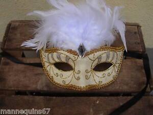 Masque venitien carnaval plume decoration murale ebay - Masque venitien decoration ...