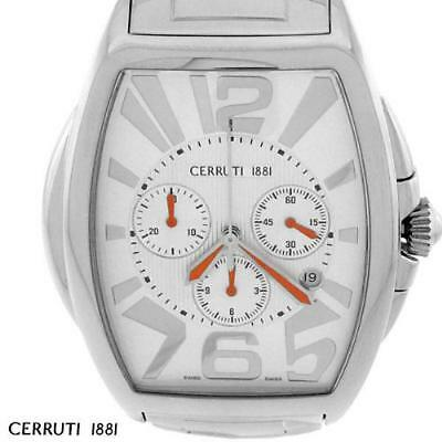 CERRUTI MENS GRANDE CLASSICO UOMO SWISS CHRONOGRAPH WATCH NEW SS CT65481X403021
