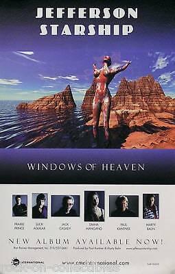 JEFFERSON STARSHIP WINDOWS OF HEAVEN PROMO POSTER ORIGINAL