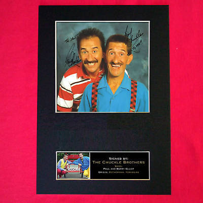 CHUCKLE BROTHERS Signed Autograph Mounted Photo Repro A4 Print 175