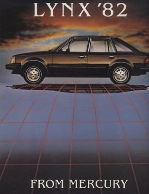 1982 Mercury Lynx Dealer Sales Brochure - Canadian Market